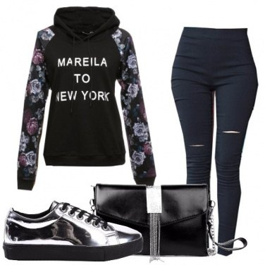 Outfit Maniche floreali
