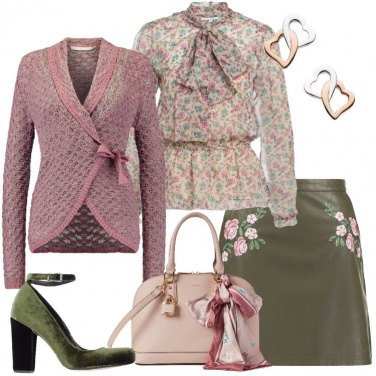 Outfit Un cardigan romantico