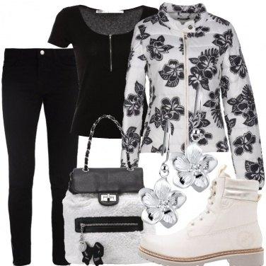 Outfit Scampagnata in bianco e nero