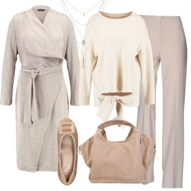 Outfit Il cardigan sabbia