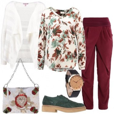 Outfit Cardigan e camicia