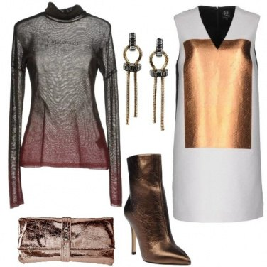 Outfit Bronzo laminato