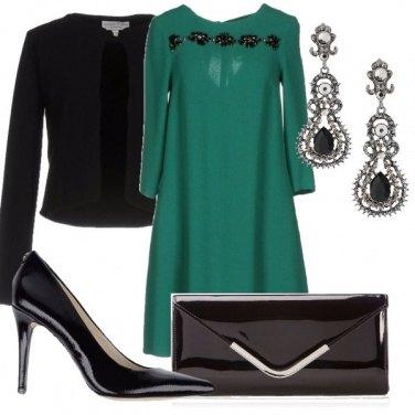 Outfit Cerimonia in verde