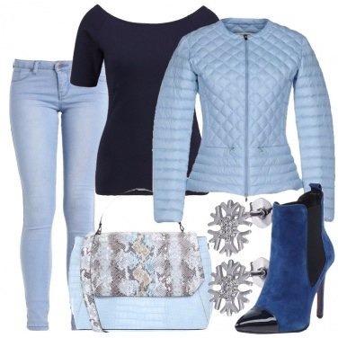 Outfit Azzurro superstar