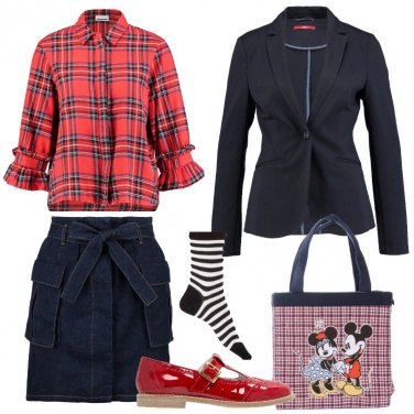 Outfit La camicia scozzese