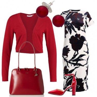 Outfit Rosso e tulipani neri