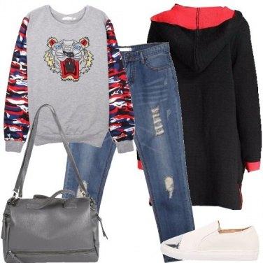 Outfit La felpa colorata