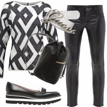 Outfit Look black and white