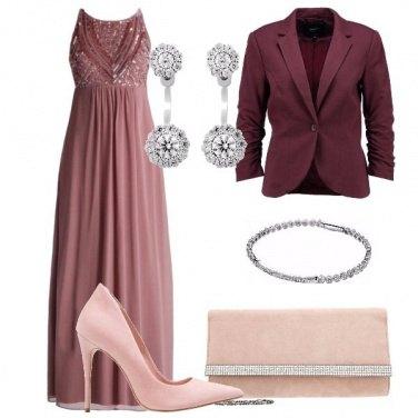 Outfit Elegantissima in color malva