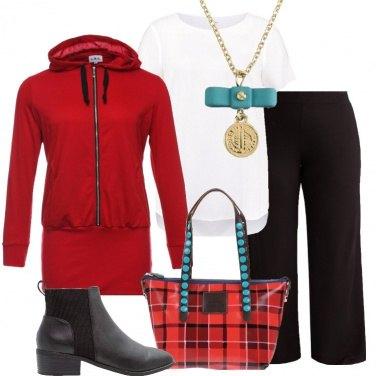 Outfit La borsa in fantasia scozzese
