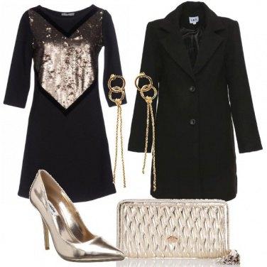 Outfit Velluto e oro