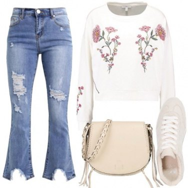 Outfit Jeans bootcut