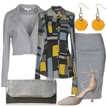 Outfit Grigio e geometrie