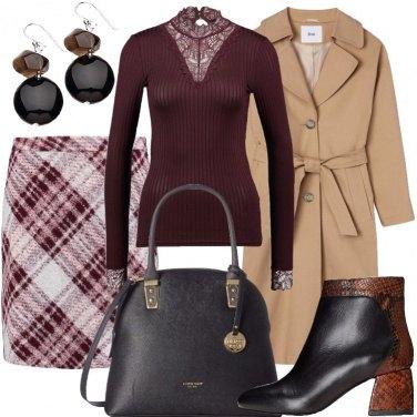 Outfit Scacchi bordeaux