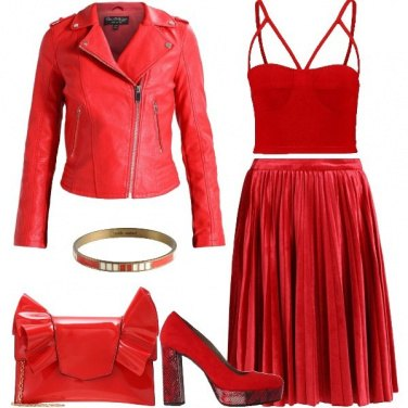 Outfit Purché sia rosso