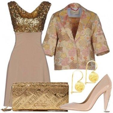 Outfit Un cerimonia dorata
