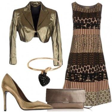 Outfit Nei toni dell\'oro