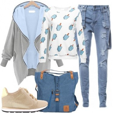 Outfit La felpa coi gelati