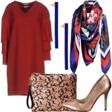 Outfit Cerimonia in blu e rosso