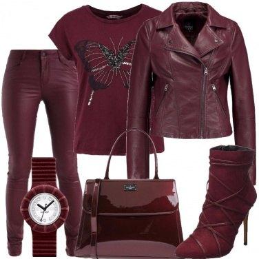 Outfit Tutto bordeaux