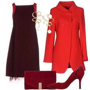 888c749f6cac L eleganza del rosso  outfit donna Chic per cerimonia e serata fuori ...