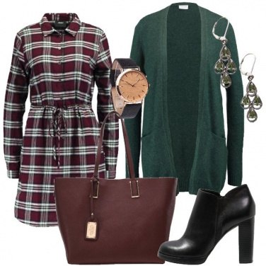 Outfit Il cardigan verde