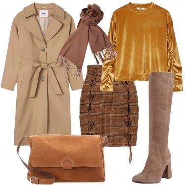 Outfit La felpa dorata