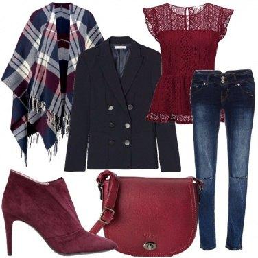 Outfit La mantella tartan