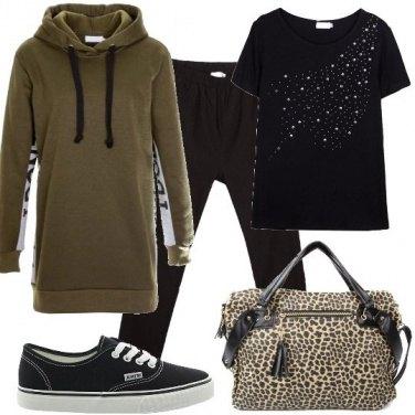 Outfit Leopardo metropolitano