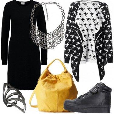 Outfit Maxi pied-de-poule