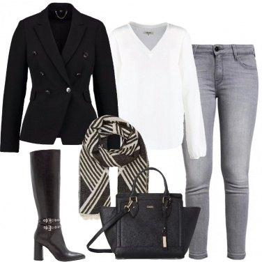 Outfit Jeans skinny e stivali