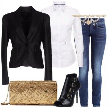 Outfit Jeans di sera