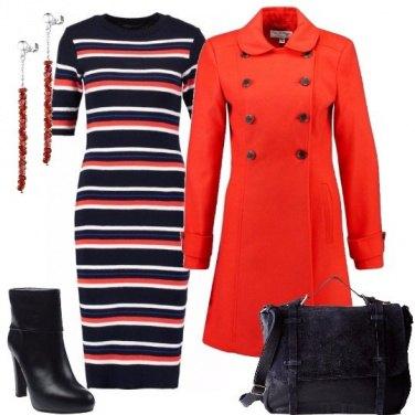 Outfit Righe in rosso e blu
