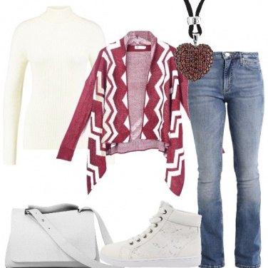 Outfit Cardigan asimmetrico