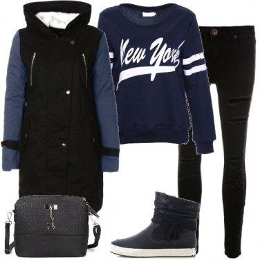 Outfit Jeans e felpa