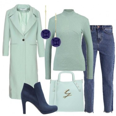 Outfit Jeans e menta
