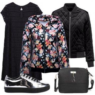 Outfit Felpa e vestito