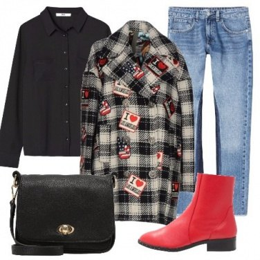 Outfit Cappotto tartan