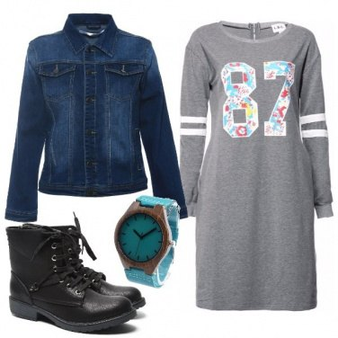 Outfit Minidress e stivaletti