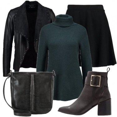 Outfit Maglione e minigonna