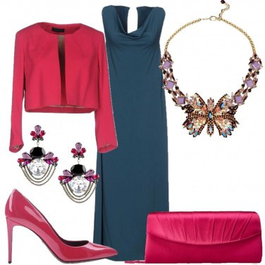 Outfit Cerimonia con contrasti