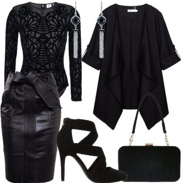 Outfit Velluto nero