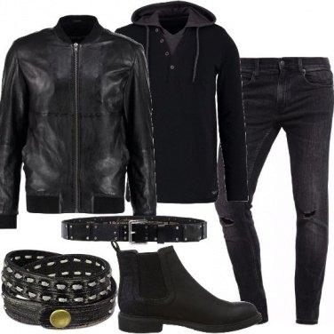 Outfit Biker rock