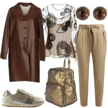 Outfit Il cappotto di pelle