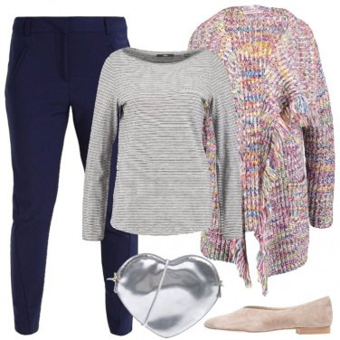 Outfit Cardigan multicolore