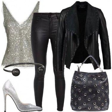 Outfit Rock con dettagli silver