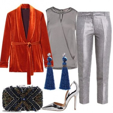Outfit Silver e velluto