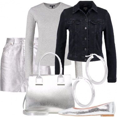 Outfit Argento protagonista