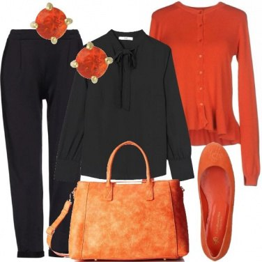 Outfit Bon ton arancio