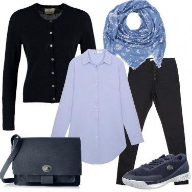 Outfit Le tante sfumature del blu